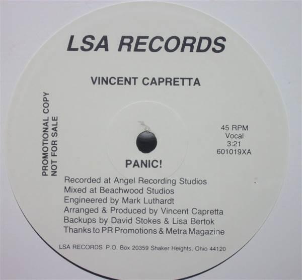 VINCENT CAPRETTA - Panic! - 12 inch 45 rpm