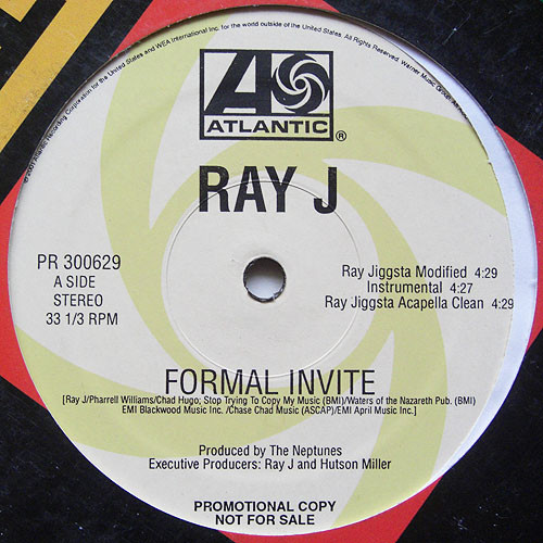 Ray J Formal Invite Ray Jigsta Records Lps Vinyl And Cds