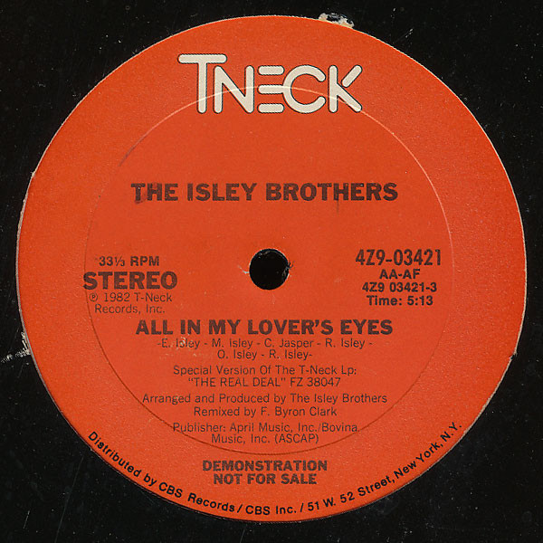 All In My Lover's Eyes - Isley Brothers