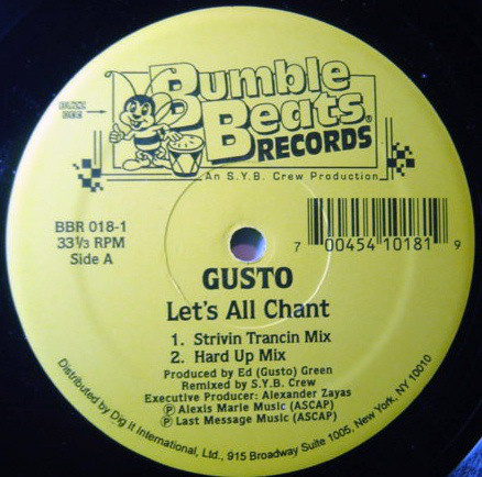 Gusto - Let's All Chant / Move 2 The Drum