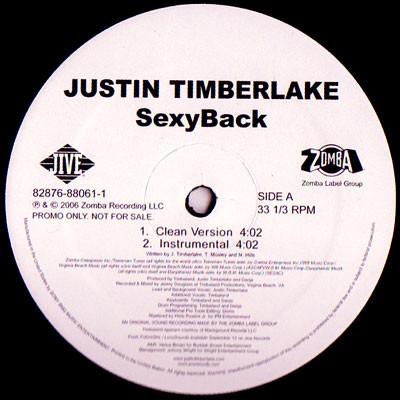 Justin Timberlake - Sexyback Single
