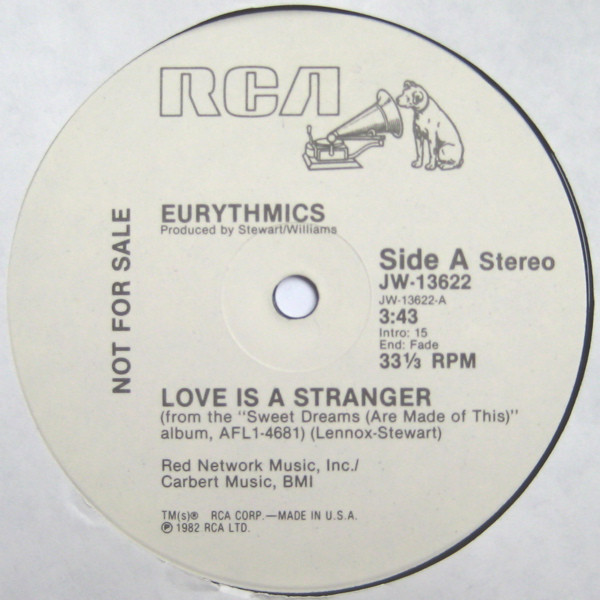 Eurythmics - Love Is A Stranger Record