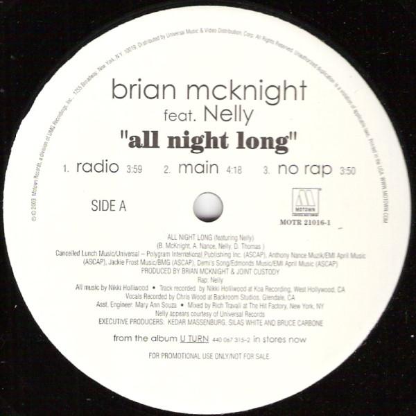 Brian McKnight - All Night Long Lyrics | MetroLyrics