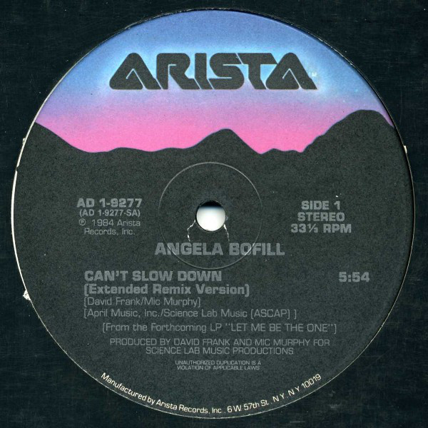 Angela Bofill - Can't Slow Down Album