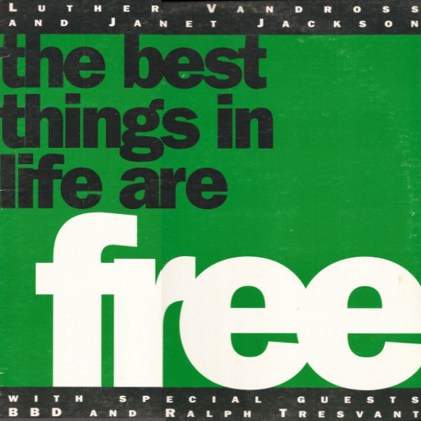 Luther Vandross & Janet Jackson With Special G - The Best Things In Life Are Free Single