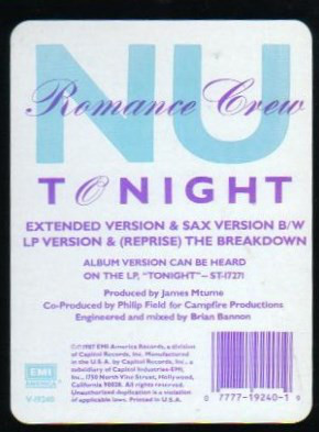 Nu Romance Crew - Tonight Album