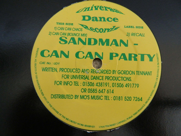 SANDMAN (4) - Can Can Party - 12 inch 45 rpm