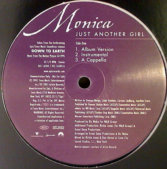 MONICA - Just Another Girl - Maxi 45T