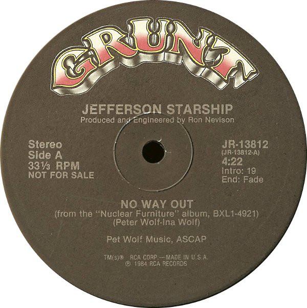 Jefferson Starship - No Way Out Single