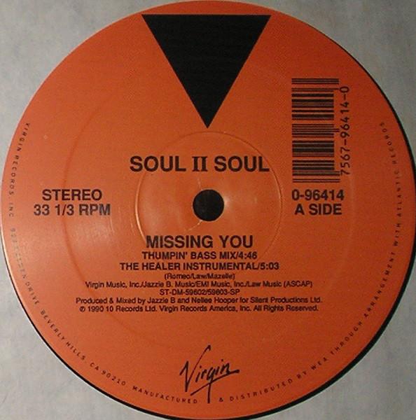 Soul II Soul - Missing You Record