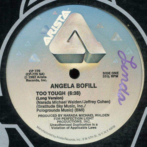 Angela Bofill - Too Tough Single