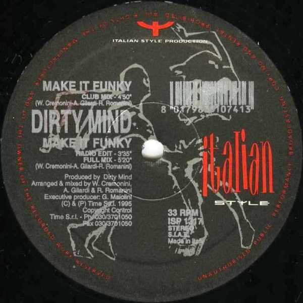 DIRTY MIND - Make It Funky - 12 inch 45 rpm