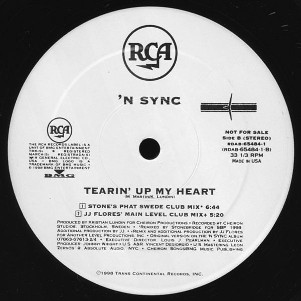 Tearin up my heart (by *nsync)