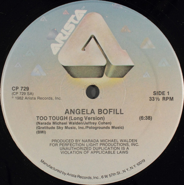 Angela Bofill - Too Tough Record