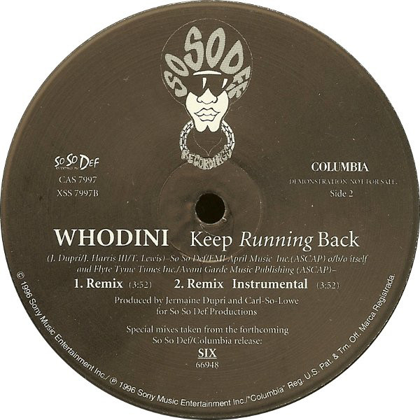 Keep Running Back - Whodini