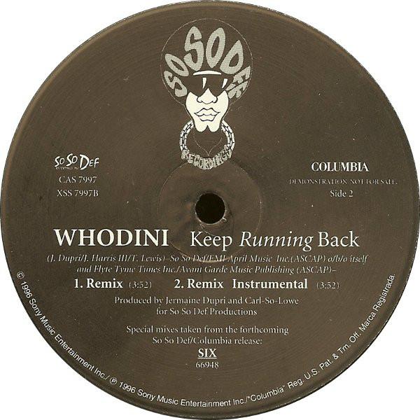 Whodini - Keep Running Back Album