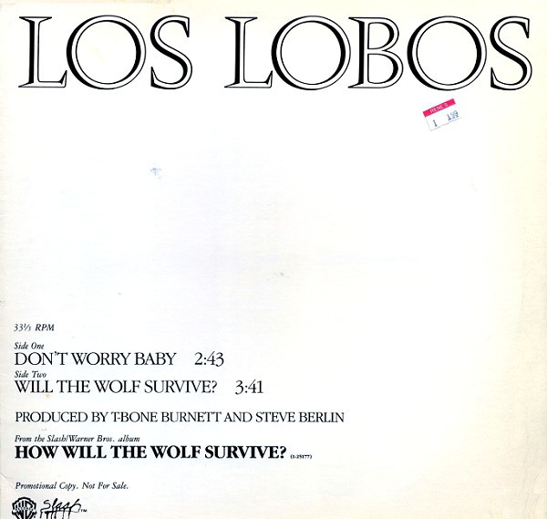 Los Lobos Don\'t Worry Baby Records, LPs, Vinyl and CDs - MusicStack