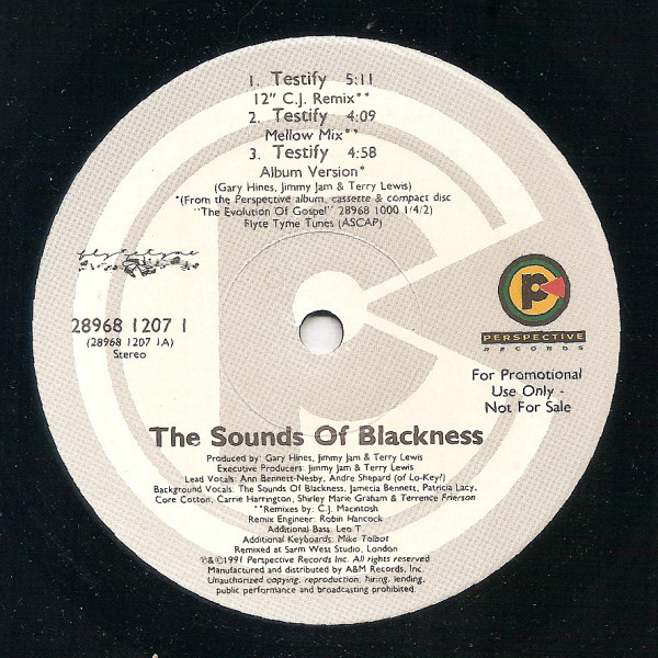Sounds Of Blackness - Testify EP