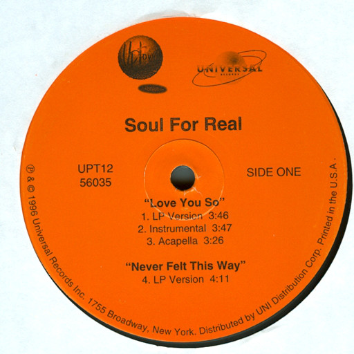 Love You So - Soul For Real