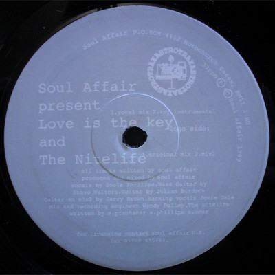 Soul Affair - Love Is The Key / The Nitelife