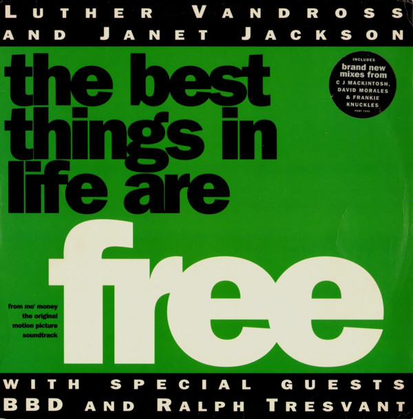 Luther Vandross & Janet Jackson With Special G - The Best Things In Life Are Free CD