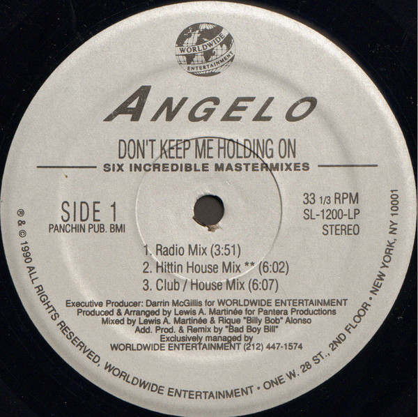 Angelo - Don't Keep Me Holding On