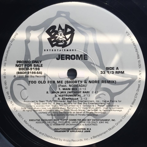 Jerome - Too Old For Me Record