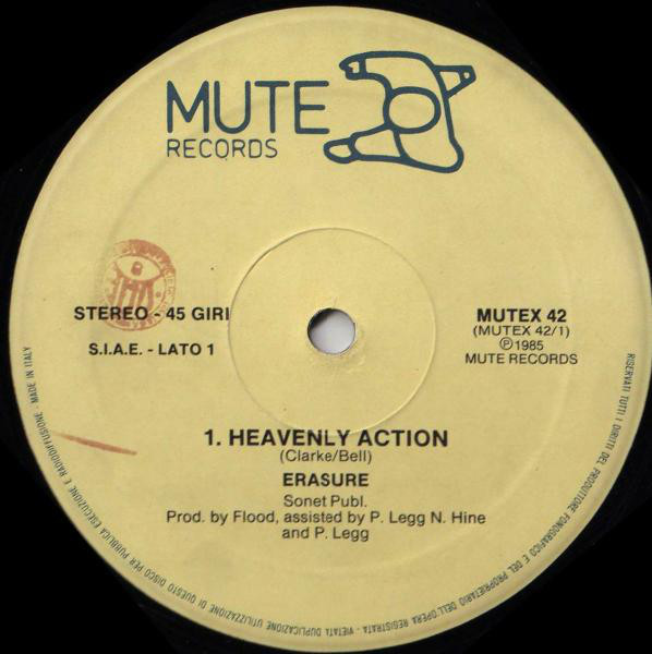 Erasure - Heavenly Action LP