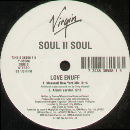 Soul II Soul - Love Enuff Record
