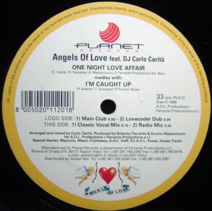 Angels Of Love - One Night Love Affair (medley With I'm Caught Up)