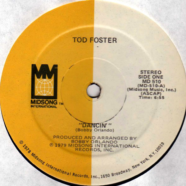 TOD FOSTER - Dancin' / I Fell In Love With An Angel - Maxi 45T
