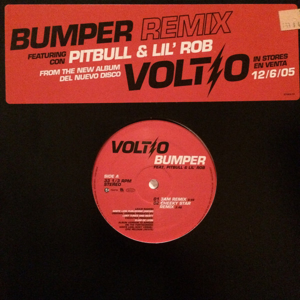 Bumper remix by Julio Voltio Feat  Pitbull And Lil Rob, 12inch with  vinylminded