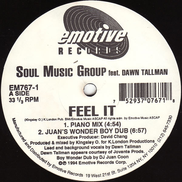 Soul Music Group Featuring Dawn Tallman - Feel It Album