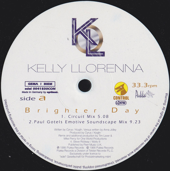 KELLY LLORENNA - Brighter Day - Maxi 45T