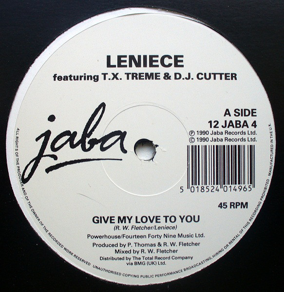Leniece Featuring T.X. Treme & D.J. Cutter Give My Love To You