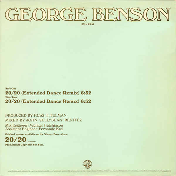 george benson 20/20 (extended dance remix)